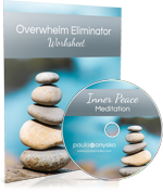 Inner Peace Meditation and Overwhelm Eliminator Worksheet