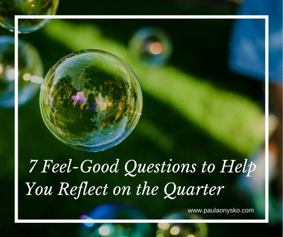 Paula Onysko Feed Good Bubble Q1 Review